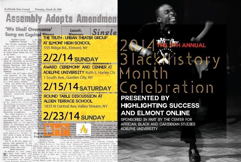 Celebrate Black History Month with Highlighting Success on 2/15/14 at Adelphi University